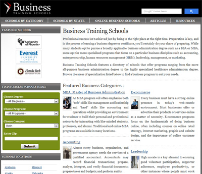 Business Training Schools